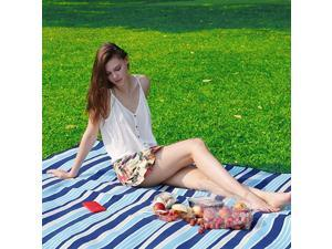 Picnic Blanket Extra Large 79quotx79quot Outdoor Blanket with Waterproof PEVA Backing Accommodate 410 PeopleMat for Camping Grassland Barbecue Party Portable Thickened Upgrade Easy Folding