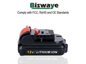 2 Pack 30Ah 12V Max Lithium Ion Battery Replacement for 12V Dewalt Cordless Power Tools Battery DCB120 DCB123 DCB122 DCB127 DCB124 DCB121