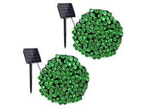 Solar String Lights 2 Packs 72ft 200 LED 8 Modes Outdoor String Lights Waterproof Solar Fairy Lights for Garden Patio Fence Holiday Party Balcony Decorations Green