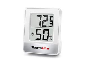 TP49 Digital Hygrometer Indoor Thermometer Humidity Meter Room Thermometer with Temperature and Humidity Monitor Mini Hygrometer Thermometer