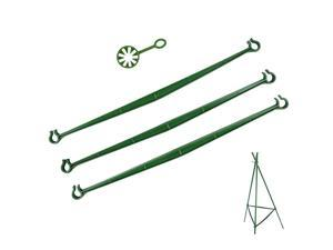 Trellis Garden Tomato Cage Connectors Attach 11mm Plant Stake Arms with Clamps