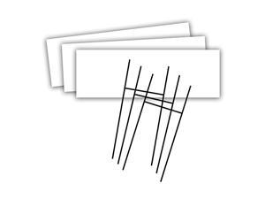 Blank Yard Sign and HFrame Ground Stake Sign Holder Set White 6 x 24 Inches 3Pack 5502