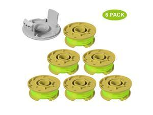 11ft 0080quot Replacement Trimmer Spool for Ryobi One Plus AC80RL3 18v 24v and 40v Cordless Trimmers Line Refills Weed Wacker AutoFeed Twist Single Line Parts 6 Pack+1 Cap
