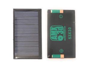 AMX Solar 5V 30mA 53X30mm Micro Mini Power Solar Cellsfor Solar Panels DIY Projects Toys Solar Charge 36v Batteries