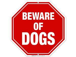 Beware of Dog Sign 12x12 Octagon Shaped Rust Free Aluminum WeatherFade Resistant Easy Mounting IndoorOutdoor Use Made in USA by