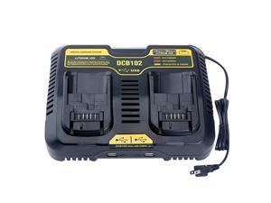 Replacement for Dewalt 20V Battery Charger DCB102BP DCB102 DCB104 DCB115 Compatible with Dewalt 12V 20V Lithium Battery DCB206 DCB205 DCB204 DCB120 DCB127
