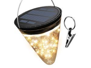 50 LED Solar Lantern Light 2800K Warm  2200mAh Cone Solar Hanging Light Waterproof Tabletop Lamp with 3 Lighting Modes for Garden Patio Pathway Landscape Party Decoration 1Pack