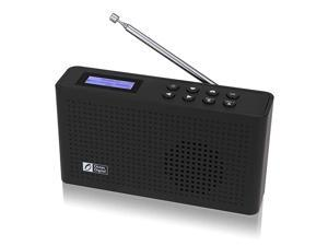 Portable Internet WiFiFM Radio with Bluetooth Speaker Rechargeable Battery Compact Radio for Kitchen Garden WR26