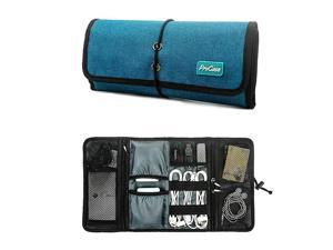 Accessories Bag Organizer Universal Electronics Travel Gadgets Carrying Case Pouch for Charger USB Cables SD Memory Cards Earphone Flash Hard Drive Teal