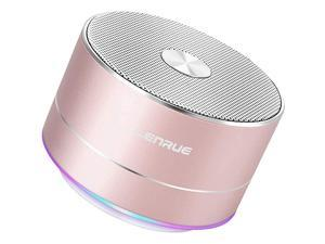 A2  Portable Wireless Bluetooth Speaker with Built-in-Mic,Handsfree Call,AUX Line,TF Card,HD Sound and Bass for iPhone Ipad Android Smartphone and More(Rose Gold)