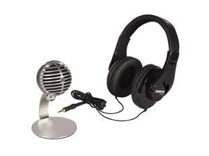 Mobile Recording Kit with SRH240A Headphones and MV5 Microphone including Lightning and USB Cables