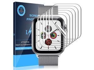 6 Pack Screen Protector Compatible With Apple Watch 40mm Series 5 Series 6 SE 38mm Series 3 Model No 0085 Flexible TPU Film fingerprintproof SelfHealing HD Transparent