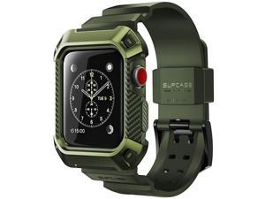 Apple Watch 3 Case 38mm  Unicorn Beetle Pro Rugged Protective Case with Strap Bands for Apple Watch Series 3 2017 Edition 38mm Compatible with Apple Watch 38mm 2015 2016 DarkGreen