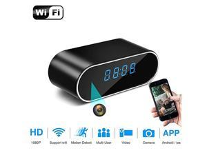 Camera Hidden Camera Clock WiFi 1080P Video Recorder 140° Wide Angle Lens Wireless IP Cameras for Indoor Home Security Monitoring Nanny Cam with Night Vision Motion Detection 2020 Version