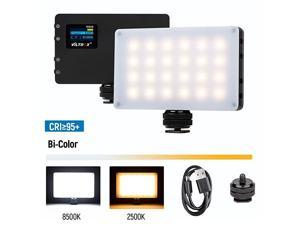 LED On Camera Video Light, Video Conference Lighting Kit with Mini Tripod, Pocket Photo Light Bi-Color 2500-8500K Panel Lights Photography Lighting for Video Recording Photoshoot Zoom Lighting