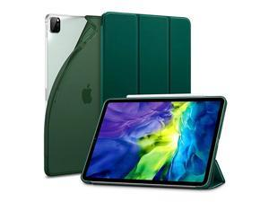 for iPad Pro 11 Case 2020 amp 2018 Rebound Slim Smart Case with Auto SleepWake ViewingTyping Stand Mode Flexible TPU Back with Rubberized Cover Pine Green