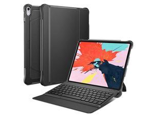 Detachable Keyboard Case for iPad Pro 129 2018 Not fit for 20152017 Version UltraThin Bluetooth Keyboard Case with Builtin Stand and Pencil Slot Support Apple Pen 2nd Charging Black