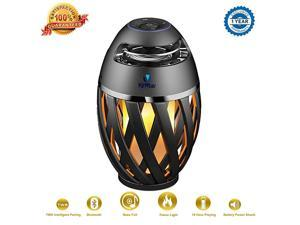 Flame Light Speaker  Led Flame Speakers Torch Atmosphere Bluetooth Speakers Outdoor Portable Stereo Speaker with HD Audio and Enhanced Bass Night Light Table Lamp BT 42 for iPhone Android