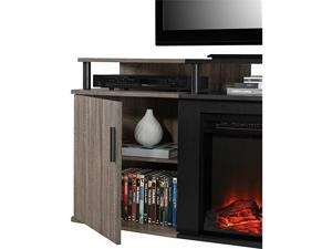 Carson Electric Fireplace TV Console for TVs up to 70 Weathered Oak