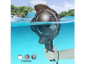 Underwater Dome Port for GoPro Hero 7 BlackHero 6Hero 5Hero2018 30M98ft Waterproof Dome Lens Intergrate NormalMacro LensRed Filter 3 Modes Housing Case Photograph Accessories