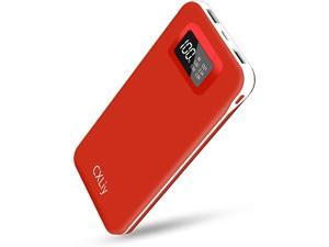 Portable Charger 24000mAh Power Bank Cell Phone Charger with Dual Outputs Dual Inputs LCD Display Battery Pack Compatible with Smart Phone Tablet and Android Device