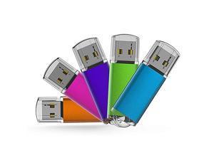 32GB USB Flash Drive 5 Pack Thumb Drives 32 GB Memory Stick Gig Drive USB 20 Pen Drive Fold Data Storage USB Sticks 5 Mixed Color