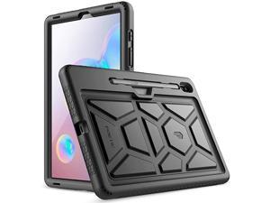 Galaxy Tab S6 Tablet Case  Heavy Duty Shockproof Kids Friendly Silicone Case Cover TurtleSkin Series for Samsung Galaxy Tab S6 105 inch Tablet SMT860SMT865 2019 Release Black