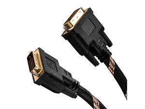 to Cable 20FtNylon Braided DVID 24+1 Dual Link Male to Male Digital Video Cable Gold Plated with Ferrite Core Support 2560x1600 for Gaming DVD Laptop HDTV and Projector 20Ft6M