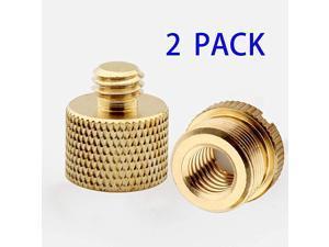 2 PieceBrass Camera Tripod Accessories 58quot Female to 38quot Male 58quot Male to 38quot Female Microphone Stand Adapter