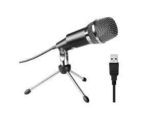 MicrophoneFifine Plug ampPlay Home Studio Condenser Microphone for Skype Recordings for YouTube Google Voice Search GamesWindowsMacK668