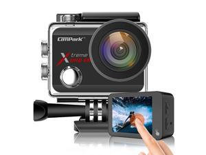 X30 Action Camera Native 4K 60fps 20MP WiFi with EIS Touch Screen Waterproof Camera 40M, 2x1350mAh Batteries and Professional Accessories