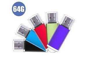 Flash Drive5 Pack Pen Thumb Drives Jump Drive Memory External Storage Stick with Keychain Design amp Led Indicator 5 Mixed Color 32GLight