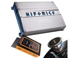 ZXX12001D Zeus Mono Channel Car Audio Amplifier Silver Class D Amp 1200Watt Aluminum Heat Sink Variable Electronic Crossover Illuminated Logo Bass Remote Included 1 Ohm Stable
