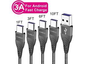 C Charger Cable Fast Charging Cord for Samsung Galaxy S20 S21 Plus Ultra Fe 5gA20 A10e A50 A51 A71S10A21 A52Phone Charge Wire 1ft 3ft 6ft 10ft