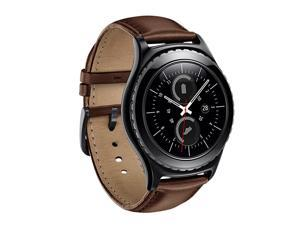 Gear S2 Classic Watch Band  Premium Leather Bands with Bukle Spring Bar Replacement Watch Band for Samsung Gear S2 Classic Smartwatch Leather Brown