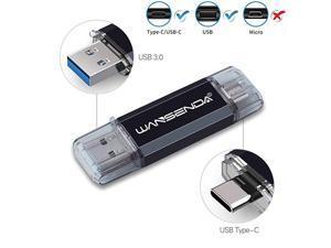 OTG USB C Flash Drive 32GB 64GB 128GB 256GB 512GB USB Thumb Drive USB 3031 amp TypeC Phone Storage for Android DevicesPCMac 32GB Black