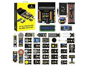 37 Sensors in 1 Box Starter Kit for BBC Microbit with Tutorial Excluding Microbit Board