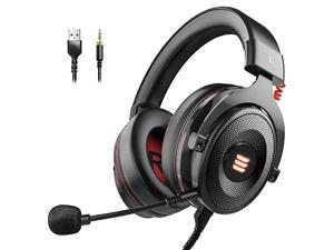E900 PS4 Gaming Headset - PC USB Headset with Detachable Microphone 7.1 Surround Sound &LED Light, Gaming Headphones Compatible with PC, PS4, PS5, Xbox One, Computer, Laptop