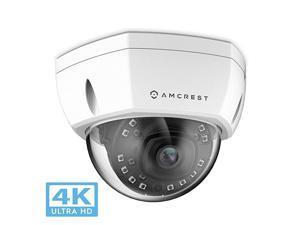 UltraHD 4K 8MP Outdoor Security POE IP Camera 3840x2160 98ft NightVision 28mm Lens IP67 Weatherproof IK10 Vandal Resistant Dome MicroSD Recording White IP8M2493EW