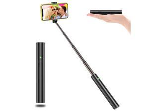 Selfie Stick Bluetooth Lightweight Aluminum All in One Extendable Selfie Sticks Compact Design Compatible with iPhone 11 Pro Max 11 Pro 11 XS Max Galaxy S20 More