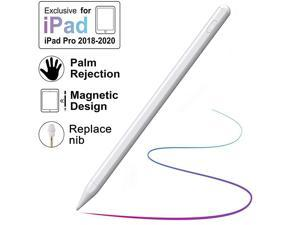 Pen for iPad with Palm Rejection Active with Magnetic for 20182020 Apple iPad iPad 67 GeniPad Pro 11129 inchiPad Mini Gen 5iPad Air Gen 3 Rechargeable Digital Pencil White