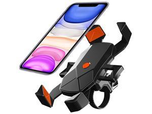 Phone Mount Motorcycle Phone HolderUniversal Adjustable Bicycle Cycling Handlebars for iPhone 11 Xs Max XR X 8 7 6 Plus Samsung S10+ S9 S8 Note 10 9 8 GPS 47 inches Android Cell Phone