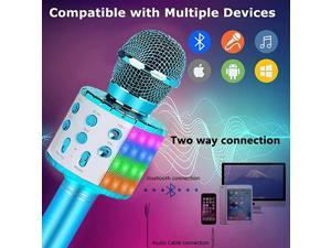 Kids Karaoke MicrophoneBest Gifts for 7 8 9 Year Old Young GirlsHot Girl Toys Age 416Top Birthday Presents for 5 6 Year Old Teens Blue