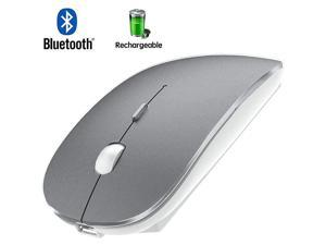 Mouse Rechargeable Wireless Mouse for MacBook ProWireless Mouse for Laptop PC Computer Gray+White