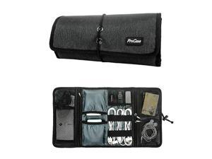 Accessories Bag Organizer Universal Electronics Travel Gadgets Carrying Case Pouch for Charger USB Cables SD Memory Cards Earphone Flash Hard Drive Black
