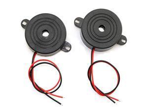 2Pack DC 324V 85 dB Active Piezo Buzzer Piezoelectric Sound Beeper Continous Sound Car Accessries Black