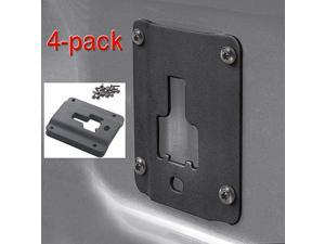 Truck Bed Cargo TieDown Brackets 4Pack Steel Plates Compatible with 20152018 Ford f150 f250 f350 Raptor Bed Load Hook Reinforcement Panel with 16pcs AntiTheft Screws