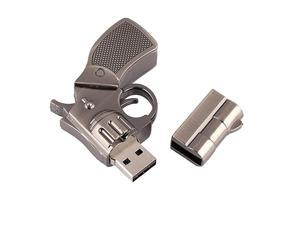 16GB Metal Revolver Gun Novelty USB Flash Drive