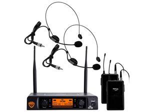 DW22 Dual Digital Wireless Headset Microphone System HM3 Ultralow latency with QPSK modulation XLR and ¼ outputs UHF rangewith HM3 Unidirectional Headmic