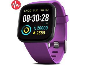 Smart WatchFitness Tracker with Blood Pressure Heart Rate Monitor ip68 Waterproof Bluetooth Fitness Watch for Android iOS Phone Sleep Tracking Calorie Counter Pedometer for Men Women